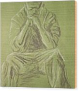 Green Figure I Wood Print