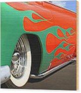 Green Flames Wood Print by Mike McGlothlen