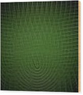 Green Fractal Background Wood Print