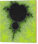 Green Fractal Wood Print