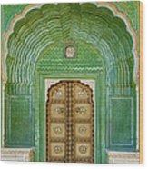 Green Gate In Pitam Niwas Chowk Wood Print