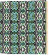 Green Geometric Abstract Pattern Wood Print