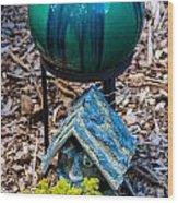 Green Globe Wood Print