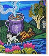 Green Goddess Coffee Wood Print