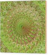 Green Grass Swirled Wood Print