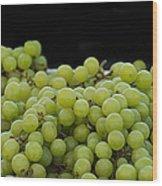 Green Green Grapes Wood Print
