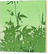 Green Green Haiku Wood Print