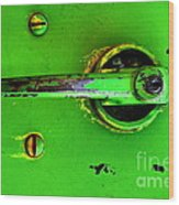 Green Handle Wood Print