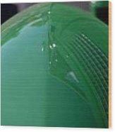 Green Hotrod Wood Print