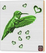 Green Hummingbird - 2055 F S M Wood Print