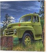 Green International Wood Print