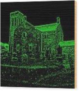 Green Kirk Wood Print