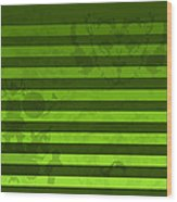 Green Lines And Feelings Wood Print