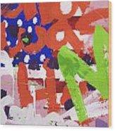 Green M Wood Print