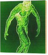 Green Man Arises Wood Print