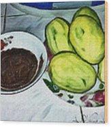 Green Mangoes Wood Print
