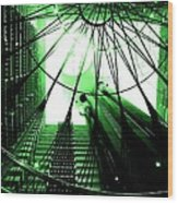 Green Marriott Marque Wood Print