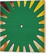 Green Memorial Union Chair Wood Print by Christi Kraft