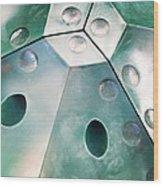 Green Metal Abstract Wood Print
