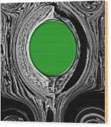 Green Mirror Wood Print