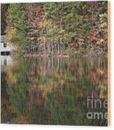 Green Mountain Lake Wood Print