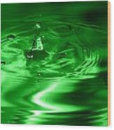 Green Multi Colored Water Drop Bubbling Wood Print