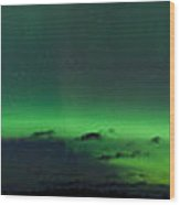 Green Northern Lights Arc Wood Print