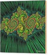 Green Ornament Wood Print