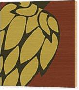Green Passion Hops Wood Print