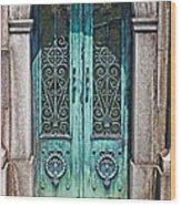 Green Patina Wood Print by Marcia Lee Jones