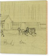 Green Pond Drive, Drawing, 1862-1865, By Alfred R Waud Wood Print