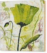 Green Poppy 003 Wood Print