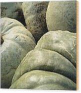 Green Pumpkins Wood Print