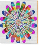 Green Revolution Chakra Mandala Art Yoga Meditation Tools Navinjoshi  Rights Managed Images Graphic  Wood Print