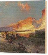 Green River Cliffs Wyoming Wood Print