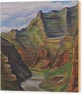 Green River Utah Wood Print by Lucy Deane