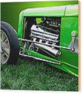 Green Rod Wood Print