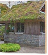 Green Roof Wood Print