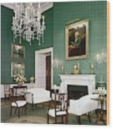 Green Room In The White House Wood Print