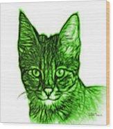 Green Savannah Cat - 5462 F S Wood Print