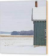Green Shed Wood Print by Ty Helbach