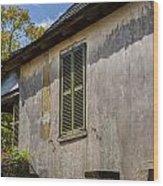 Green Shutters Stucco Walls St Augustine Wood Print
