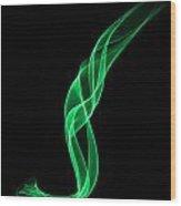 Green Smoke Wood Print