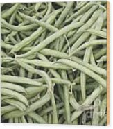 Green String Beans Display Wood Print