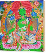 Green Tara 11 Wood Print