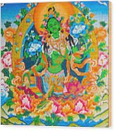 Green Tara 12 Wood Print