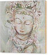 Green Tara Wood Print