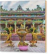 Green Temple Wood Print