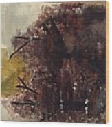 Green Thumb Cemetery Wood Print