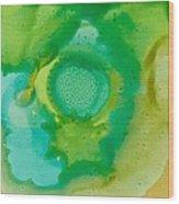 Green Tile Wood Print by Kim Hamrock
